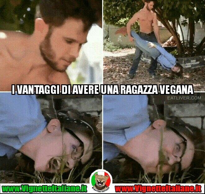 I vantaggi di avere una ragazza vegana #vignetteitaliane.it #vignette #divertenti #italiane #funny #lol #immagini #pics #donne #vegan #vegani