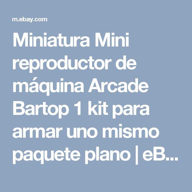 Miniatura Mini reproductor de máquina Arcade Bartop 1 kit para armar uno mismo paquete plano  | eBay