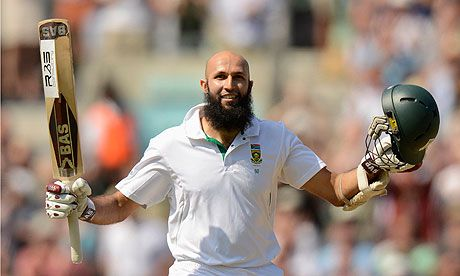 Hashim Amla - a great example for young cricketers.  He is a joy to watch, and a quiet, unassuming team man.  But what do you notice about this picture?  He has no advertisers logo's on his shirt (Castle Lager - SA Breweries).  Because of his religious convictions he takes no alcohol, and it is wonderful that his team, the sponsors, and the South African Cricket authorities respect this position.