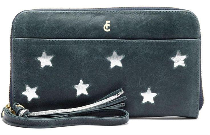 Portemonnee van Fabienne Chapot met zilveren sterren.  #fab #portemonnee #wallet #stars