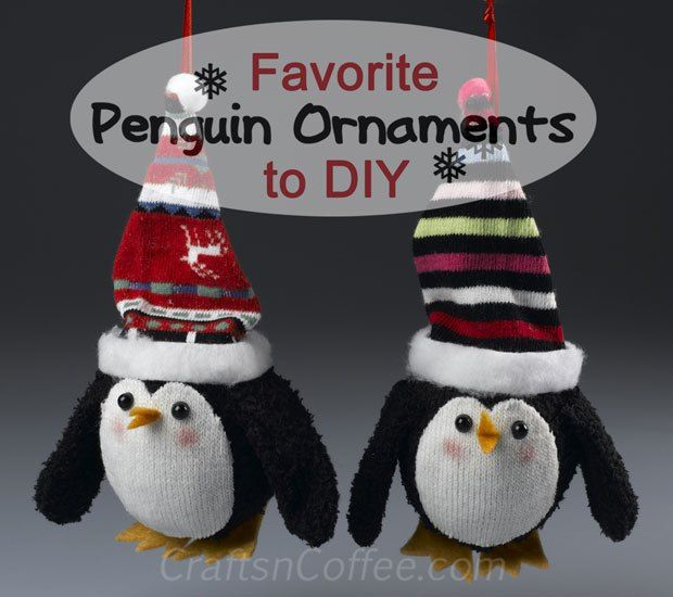 How Are Christmas Ornaments Made Part - 38: Just When You Thought A Penguin Couldnu0027t Get Any Cuter, How About A DIY  Penguin Ornament Sporting A Colorful Stocking Cap (made From A Sock, Of  Course).