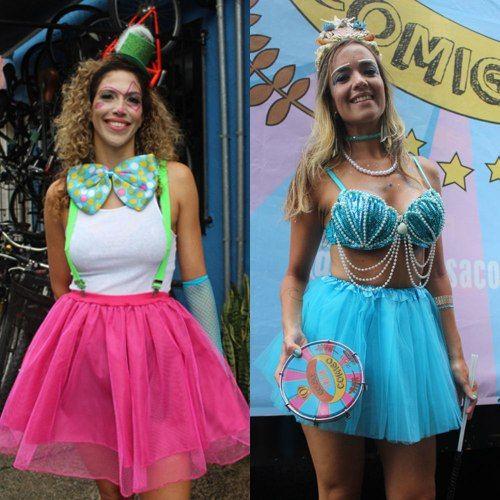 Veja as fantasias dos blocos de rua que desfilaram por São Paulo