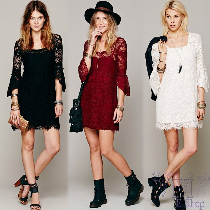 Cheap dress up plain dress, Buy Quality dress spike directly from China dresses bride Suppliers:  New 2014 Women Clothing Summer Winter Dress Half Sleeve Floral Lace Dress Crochet Casual Vest Dress Plus Size 3 C