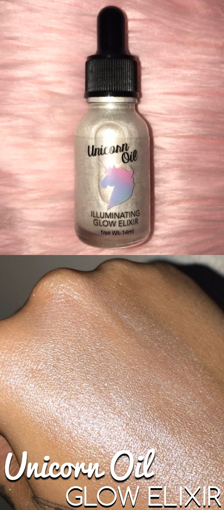 Unicorn Oil Glow Elixir now is made with 6 different skin loving oils and a ton of pigment for super bright highlights from www.glowcult.com makeup cosmetics beauty highlight routine skincare contour