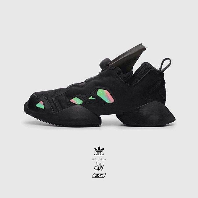 "Unnofficial concept shoe - Adidas x Rick Owens x Reebok Pump Fury x DILLY ""INNER"""