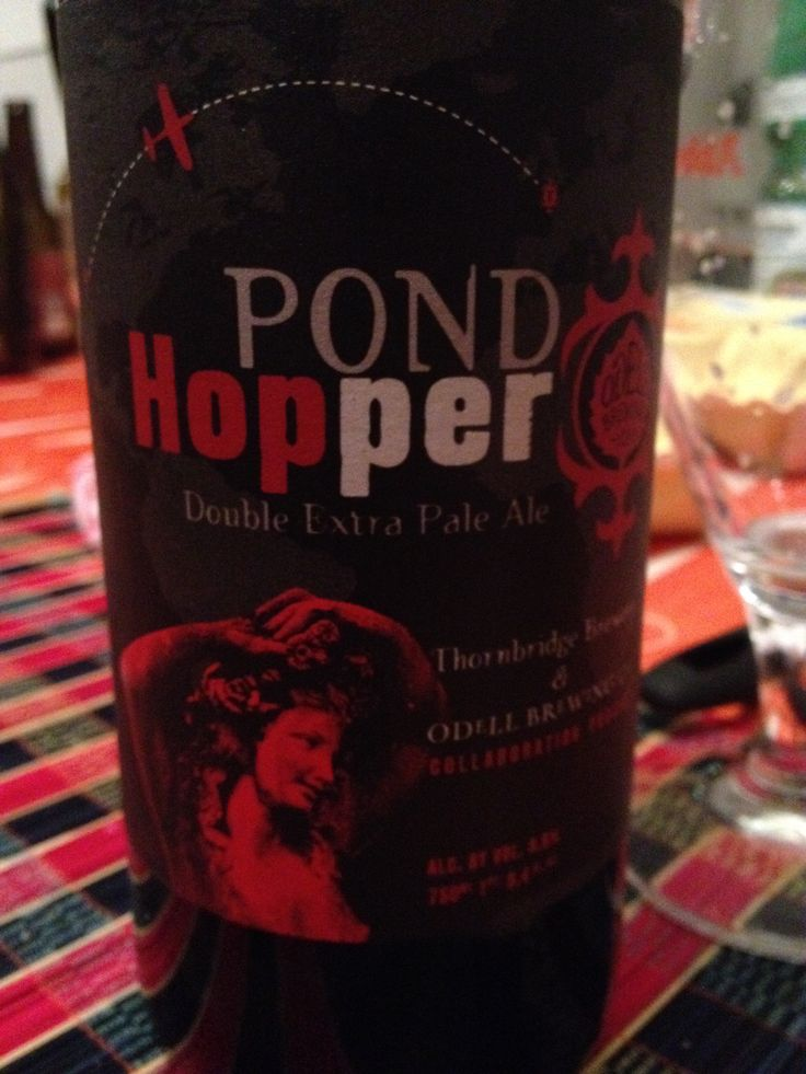 Odell/ Thornbridge Pond Hopper Double Extra Pale Ale Odell/ Thornbridge Pond Hopper Double Extra Pale Ale  Brewed by Odell Brewing Company Style: Imperial/Double IPA Fort Collins, Colorado USA