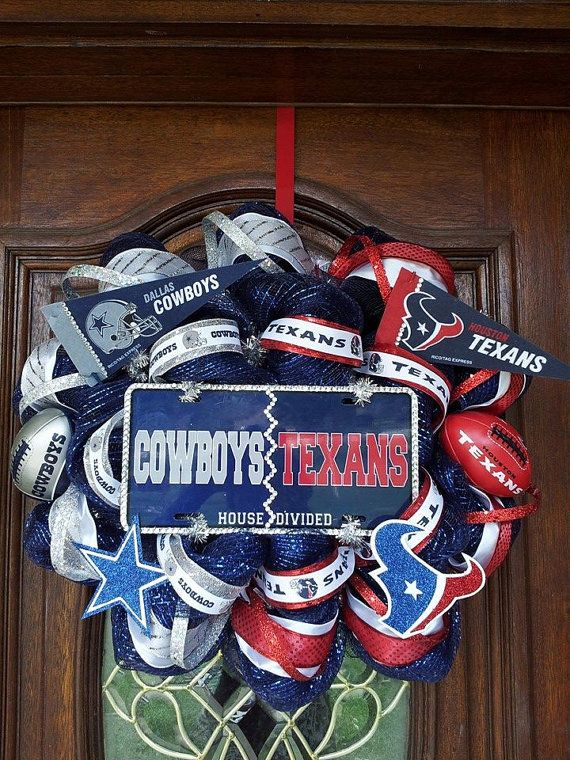 House Divided Cowboys vs Texans by PartyPzazz on Etsy, $110.00