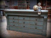 meuble de mercerie ancien