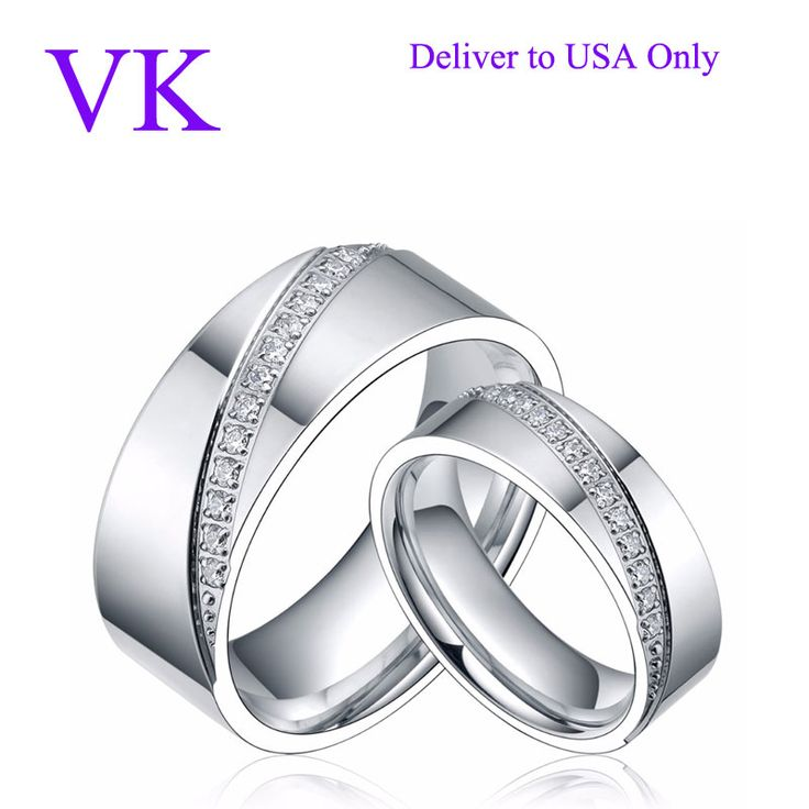 6mm&8mm Titanium Ring Men Women CZ Inlay Promise Jewelry Eternity Couple Rings Matching Set Wedding Band Valentines Day Gift -in Rings from Jewelry & Accessories on Aliexpress.com | Alibaba Group