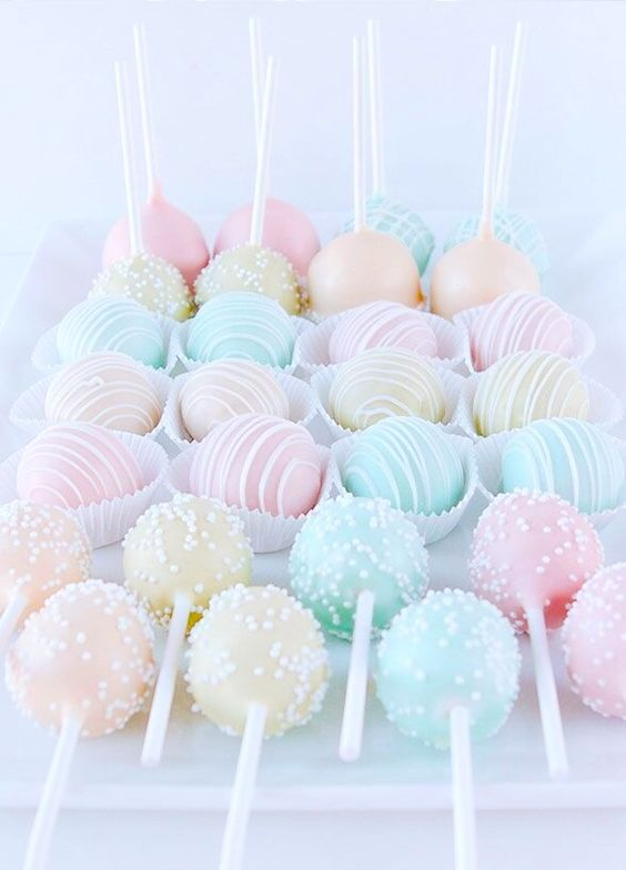 (814) Pastel Cakepops | Colorful | Pinterest