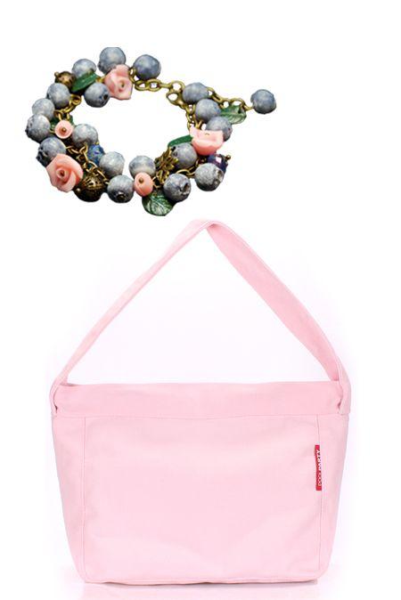 Мини образ с розовой сумкой и браслетом  купить за 680 грн. в интернет-магазин Stilecity  ✔ Лучшие цены ☆ Создайте свой собственный образ ♡ #Stilecity, новый капсульный гардероб на каждый день. Образ содержит: сумка браслет
