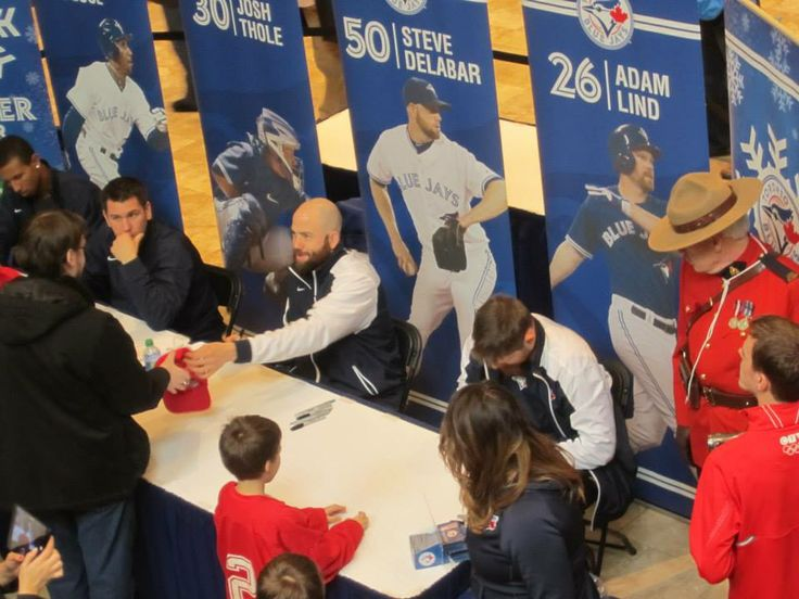 The #Toronto #BlueJays came to Lansdowne for a 2 hour autograph/meet and greet session on January 12, 2014. #Baseball #GTA #PTBO