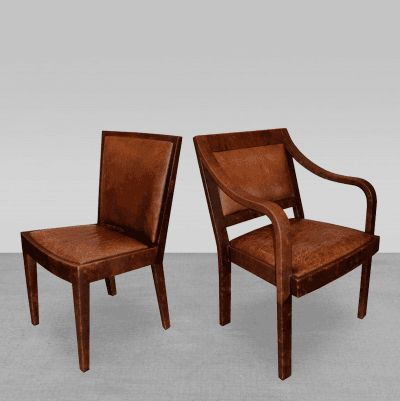 Set Of 4 Signed Leather Chairs Karl Springer USA 1970s By Dining ChairsDining Room