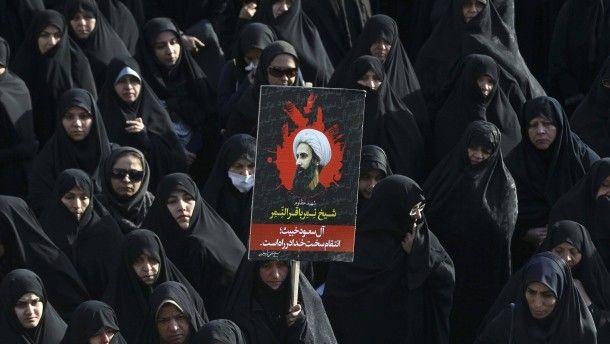 Iranische Frauen protestieren in Teheran
