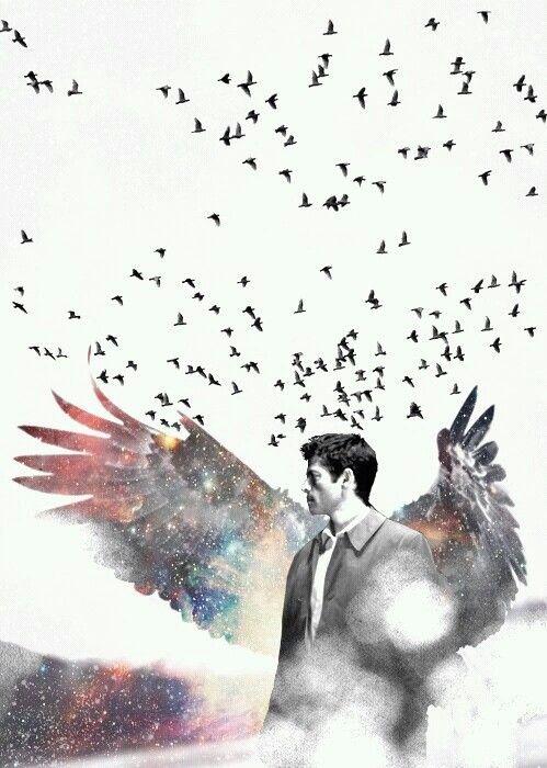 Castiel's galaxy wings