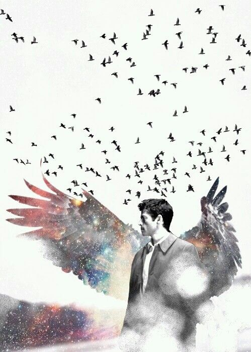 Castiel's galaxy wings
