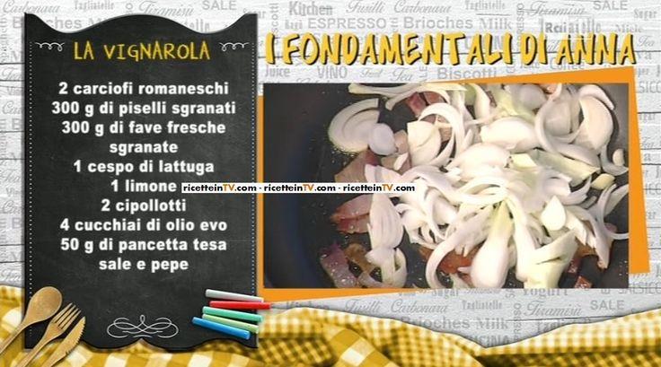 """La ricetta di un piatto tipico romano, proposto anche nella versione genetariana, la vignarola di Anna Moroni del 31 marzo 2016, a """"La prova del cuoco"""""""