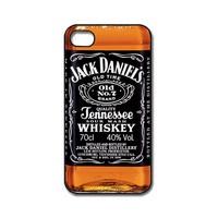 Jack Daniels On iPhone 4 black Case