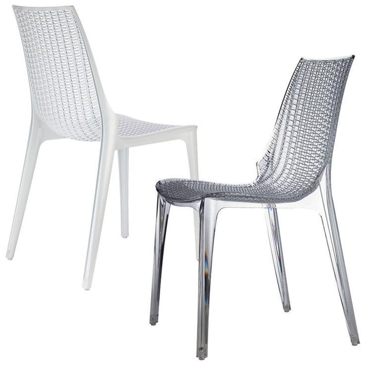 Designer Stuhl Esszimmerstuhl Mit Gewebter Sitzfläche Verschiedene Farben  NEU