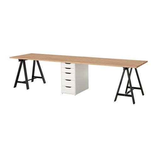 """IKEA - GERTON / ALEX, Table, , Solid wood is a durable natural material.  $288 118 1/8x29 1/2 """""""
