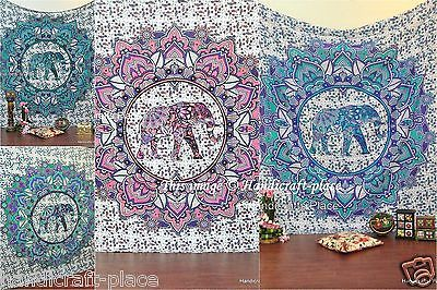 5-Pcs-Indian-Mandala-Queen-Tapestry-Bohemian-Wall-Hanging-Bedspread-Ethnic-Throw