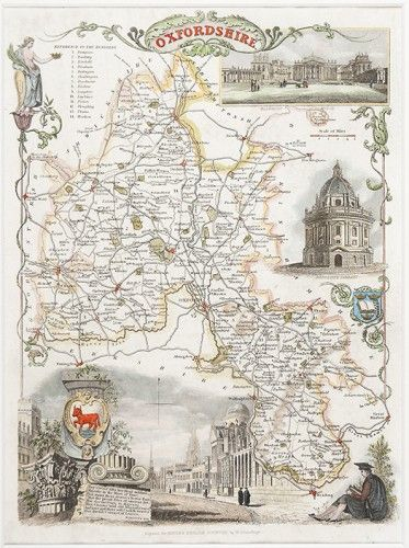 Thomas Moule's county maps include charming vignettes of the local area in a style so typical of the 19th century. This one of Oxfordshire is £115 but prices vary. See more on our website: http://www.sotherans.co.uk/Search.php?type%5B%5D=printssText=moulex=0y=0