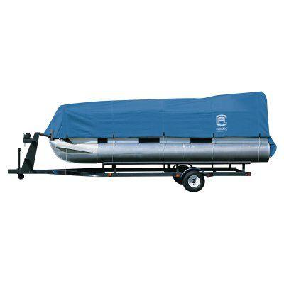 Classic Accessories Stellex Pontoon Boat Cover - Blue - 20-150-080501-00, Durable