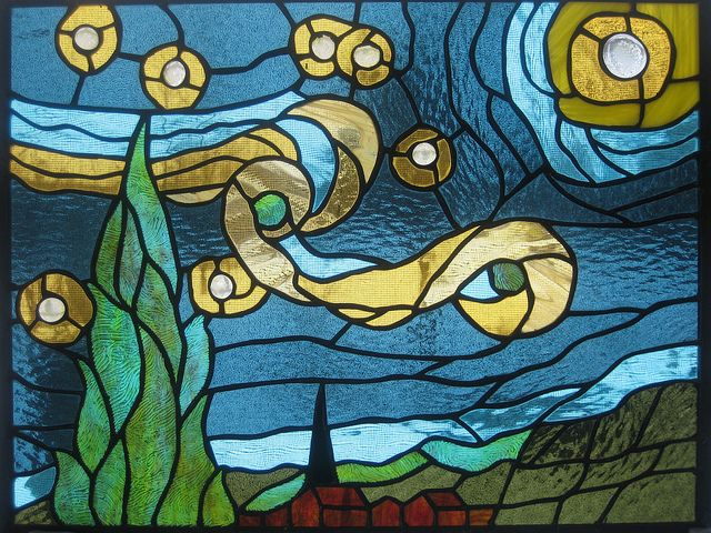 Starry Night - Wendy O. by Hues In Glass, via Flickr