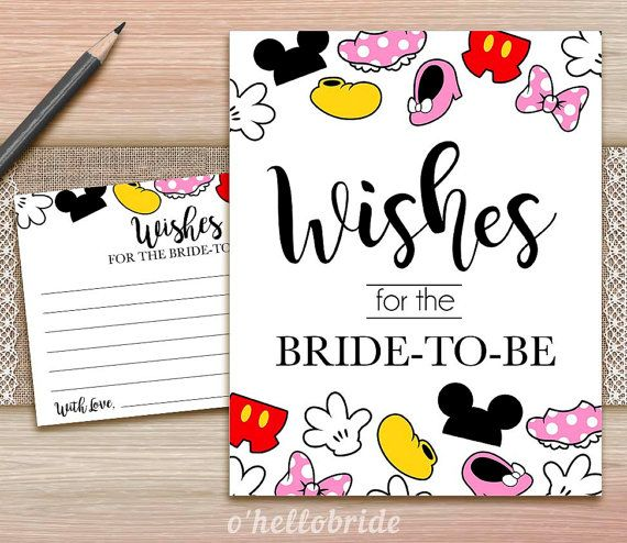 wishes for the bride to be printable disney bridal shower wishes for the bride to be 009 in 2018 love makes me sick and other wedding things