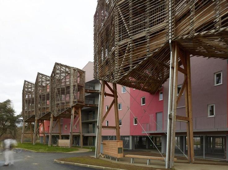 Lo studio francese Tétrarc ha appena terminato, a Nantes, un progetto per 39 alloggi ecologici di edilizia sociale