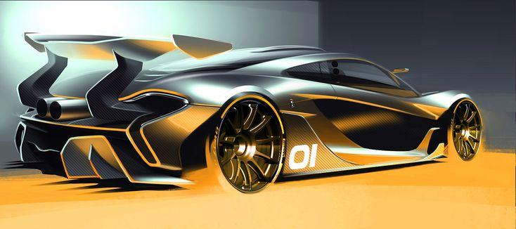 McLaren P1 GTR Concept Design Sketch