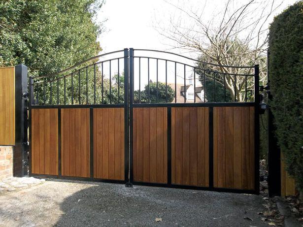 Steel Amp Cedar Gates Pinterest Gates