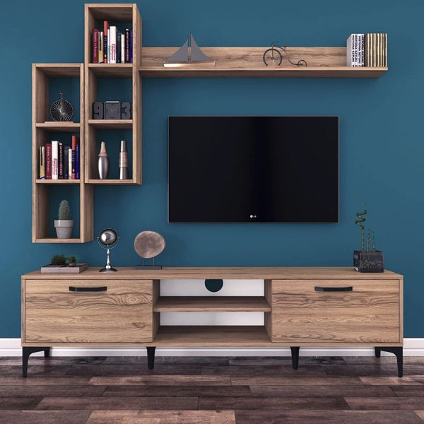 The Perfect TV Wall Ideas That Will Not Sacrifice Your Look - 03 - Impressive 149 Perfect TV Wall Ideas That Will not Sacrifice Your Look Tv Unit Decor, Tv Wall Decor, Wall Tv, Living Room Wall Units, Living Room Tv Unit Designs, Living Rooms, Tv Cabinet Design, Tv Wall Design, Tv Wanddekor