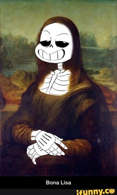 Actual picture of the real mona lisa | Undertale (Mostly ...