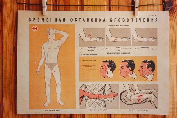 1960's Soviet Poster / ORIGINAL USSR Vintage by MonstersOverTheSea