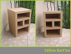 Tutoriel: Comment fabriquer un meuble en carton - Céline Kart'on