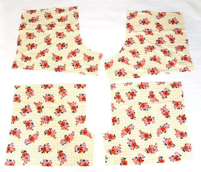 Cut out pattern pieces from the fabric.
