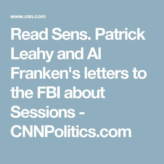Read Sens. Patrick Leahy and Al Franken's letters to the FBI about Sessions - CNNPolitics.com