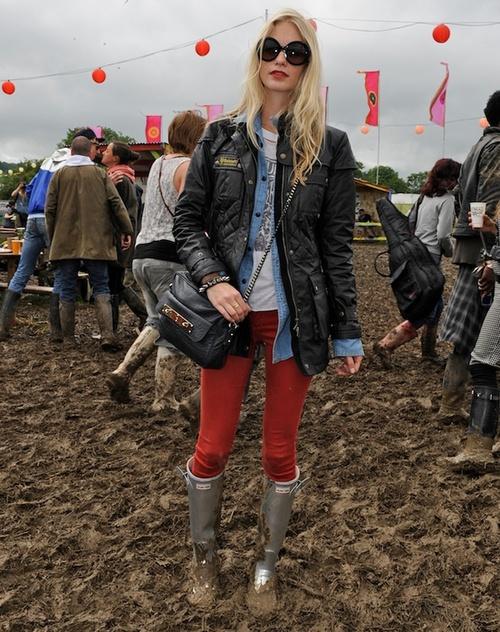 hunter boots, barbour international jacket