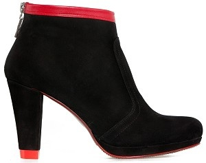 Boot ankle city black with red base