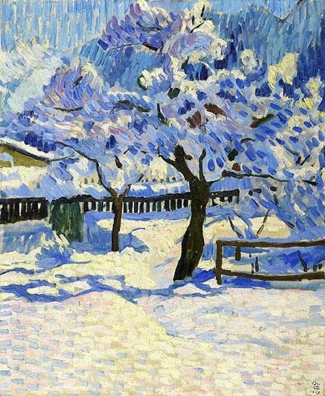 Giovanni Giacometti – The garden in winter. 1909