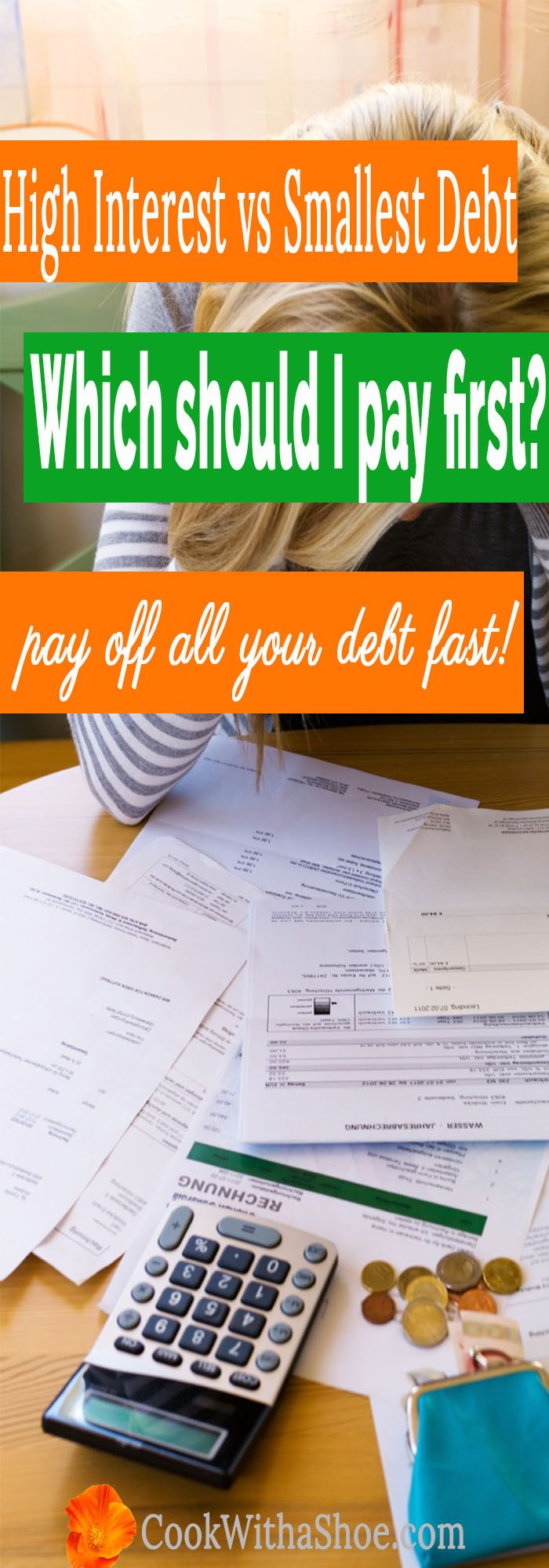 Which debt do I pay first | debt snowball | highest interest debt vs smallest debt first | debt free | paying off debt | pay off debt fast | how to pay off debt fast | Cook With a Shoe