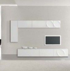 Parete attrezzata moderna di design Tonin Casa Leaves – C06