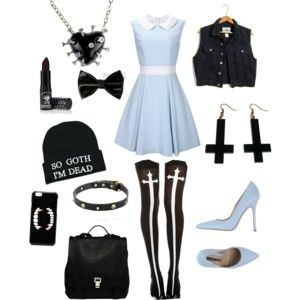 Light blue pastel goth