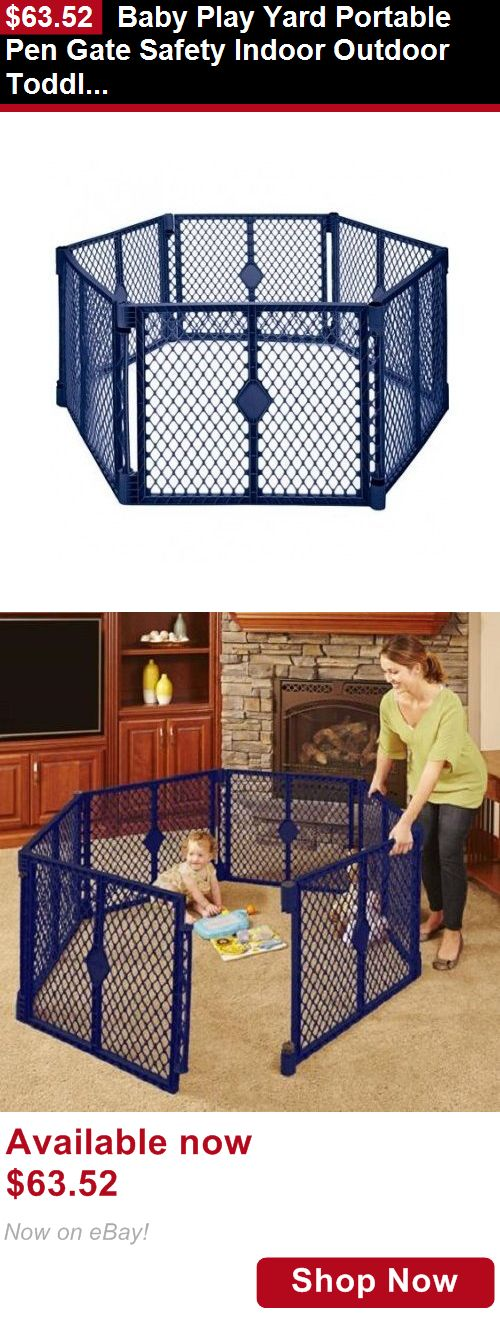 Baby Safety Gates: Baby Play Yard Portable Pen Gate Safety Indoor Outdoor Toddler Crib Infant Kids BUY IT NOW ONLY: $63.52