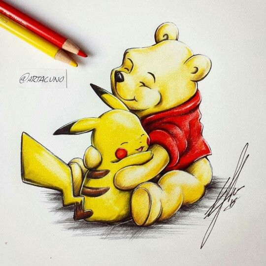Pooh and Pikachu
