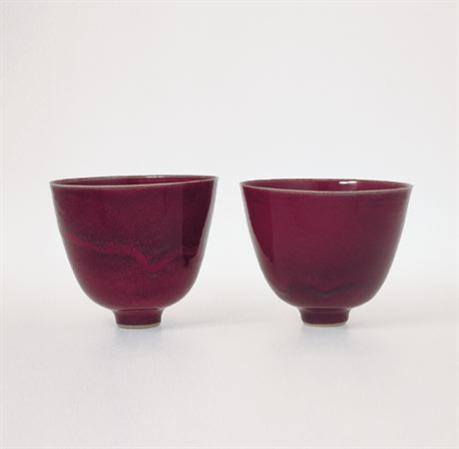 Rupert Spira. copper red glaze.