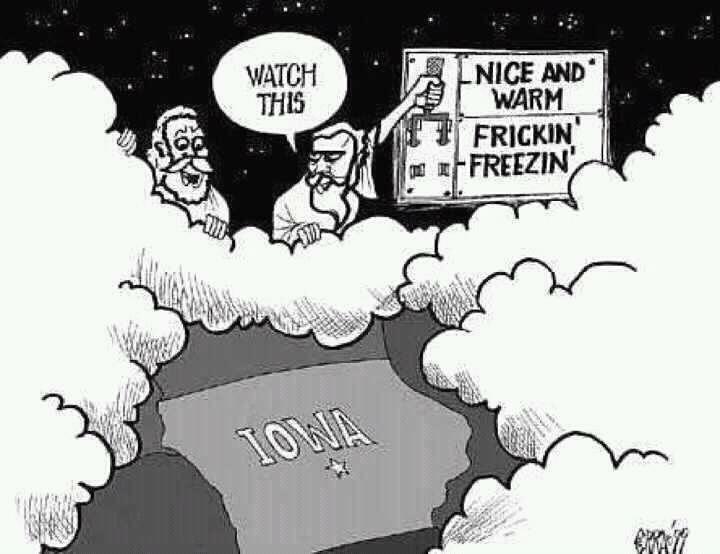 An exact representation of Iowa weather.