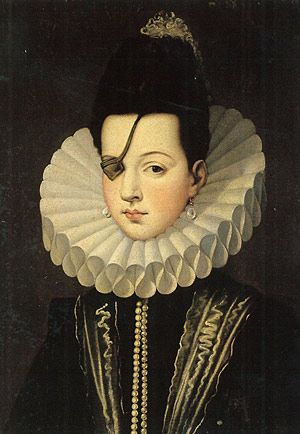 Ana de Mendoza y de la Cerda, Princess of Eboli, Duchess of Pastrana. (29 June 1540 – 2 February 1592) - he was considered one of Spain's greatest beauties, despite having lost an eye in a mock duel with a page when she was young.