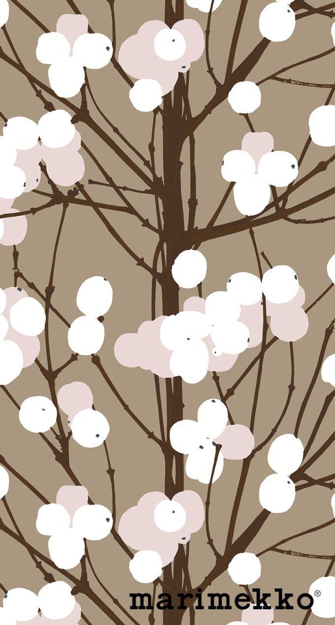 マリメッコ/ネイチャーパターン10 iPhone壁紙 Wallpaper Backgrounds iPhone6/6S and Plus Marimekko Nature Pattern iPhone Wallpaper